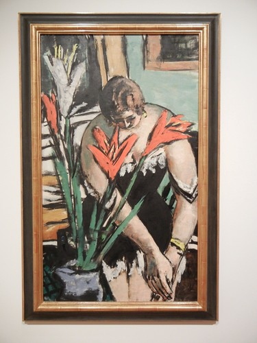 Frau bei der Toilette mit roten und weissen Lilien (Woman at Her Toilette with Red and White Lilies), Max Beckmann, 1938, Oil on Canvas, SFMOMA _ 9633