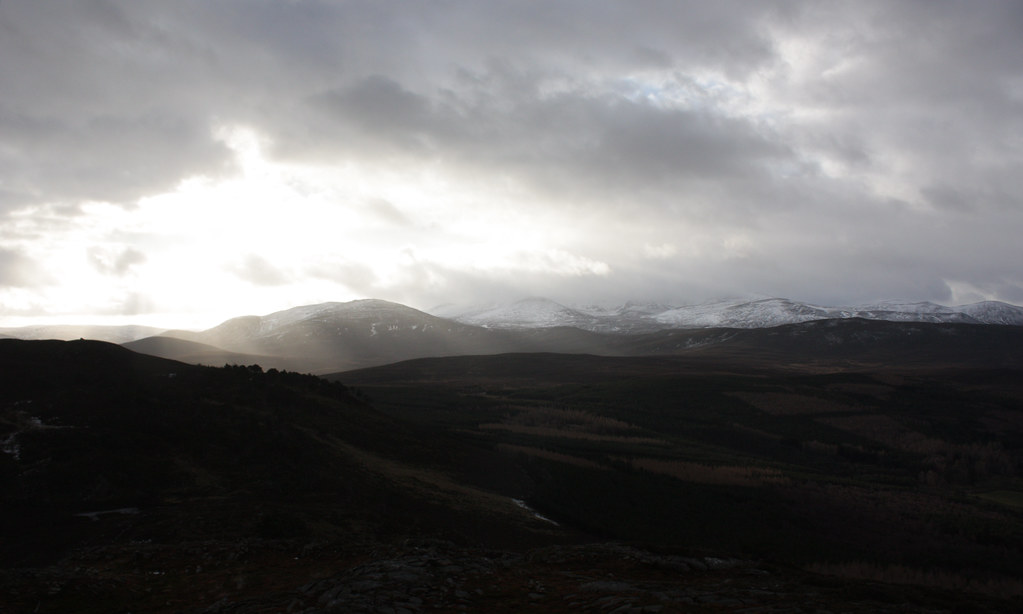 Rays over the Lochnagar Massif