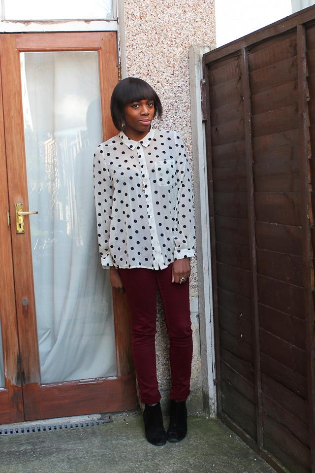 urban outfitters spot shirt topshop berry baxters