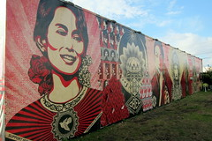 Miami - Wynwood: Wynwood Walls - Wynwood Walls - Shepard Fairey's Aung San Suu Kyi