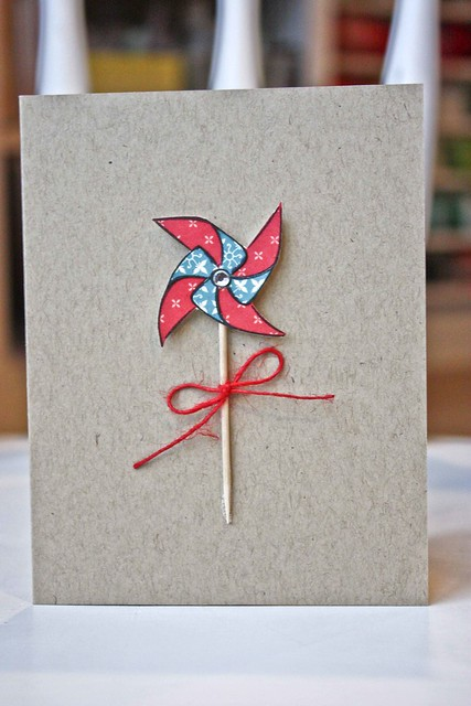 Red/blue pinwheel