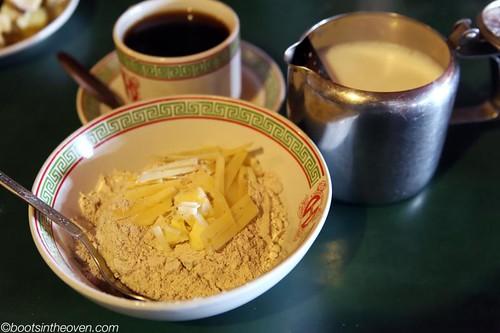 Tsampa: buckwheat flour, butter, cheese