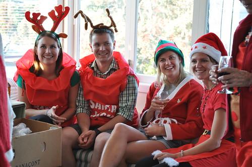 Santa suits at the Bilkey Christmas