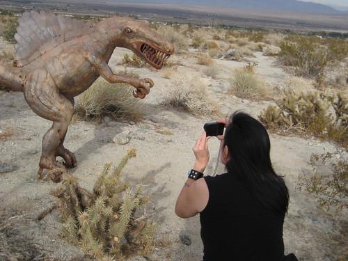 Neeta photoing a dino2