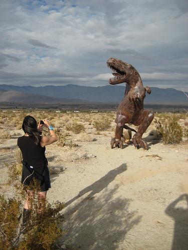 Neeta photoing a dino5
