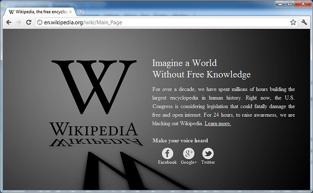 Wikipedia blacked-out