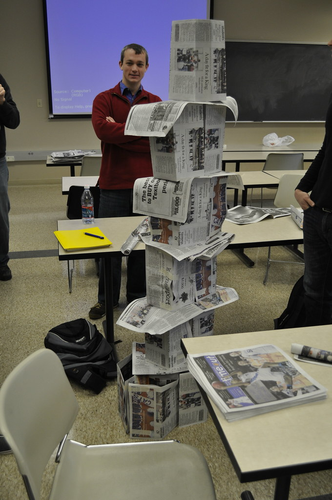 During The Paper Tower Exercise Image