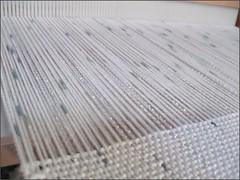 Baby blanket on loom