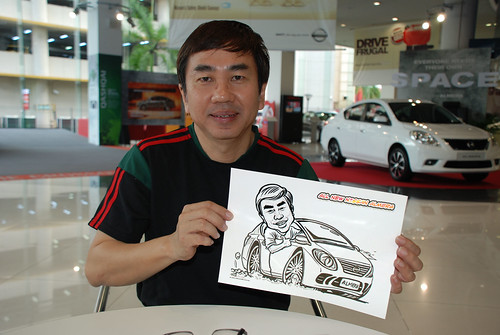 Caricature live sketching for Tan Chong Nissan Motor Almera Soft Launch - Day 4 - 5