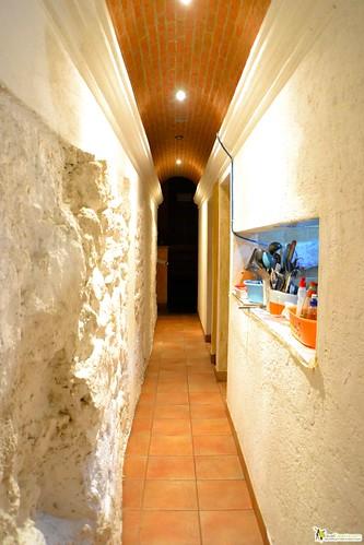 peruvian restaurant antigua guatemala - ancient hallway