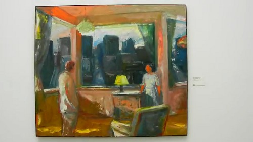 Yellow Lampshade, 1969, Elmer Bischoff, De Young Museum, San Francisco