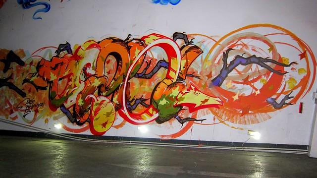 graffiti dezio - parking deck radisson blu . shanghai 2012