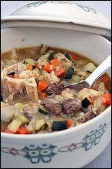Beef and barley soup (soupe de boeuf et d'orge)