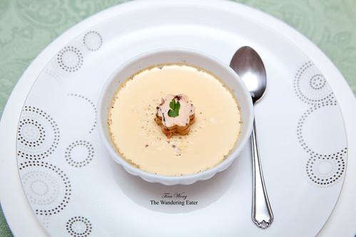 Homemade foie gras chawan mushi