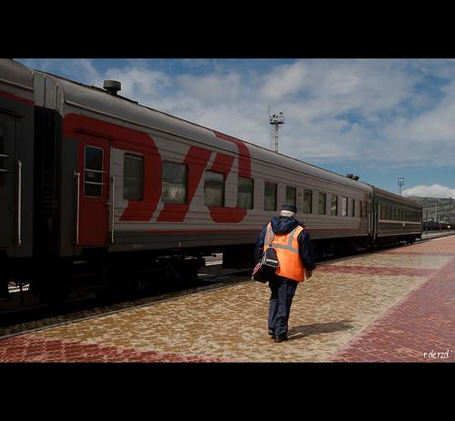 Trabajador de los ferrocarriles rusos