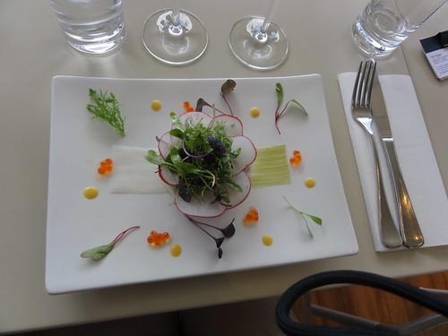 Crab salad at Te Whau