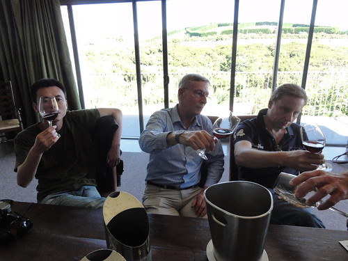 Wine tasting at Cable Bay Vineyards