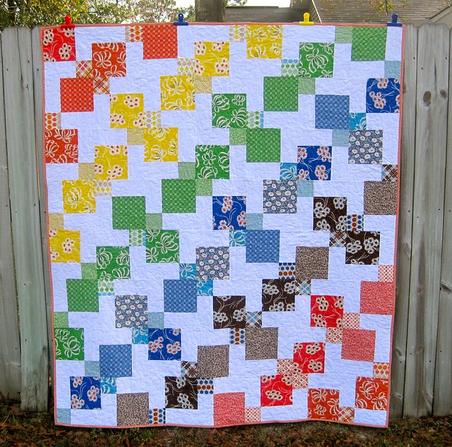 KJR Rainbow Kite quilt complete!