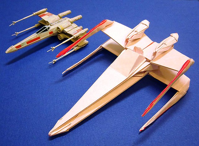 x�wing fighter origami large scale new photo with 35cm