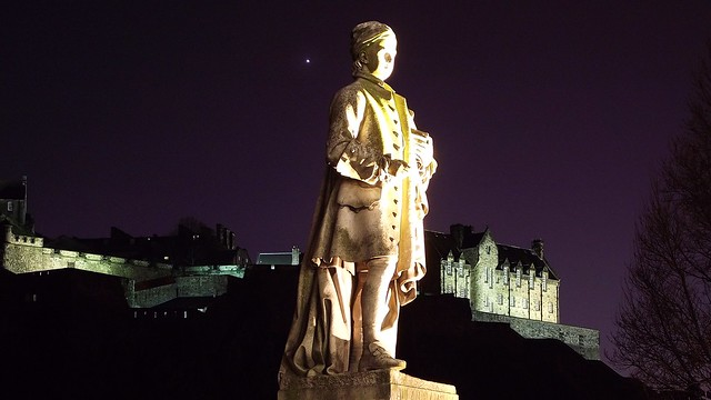 statue, star, castle