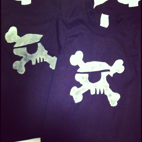 8 pirate shirts for 8 little boys!