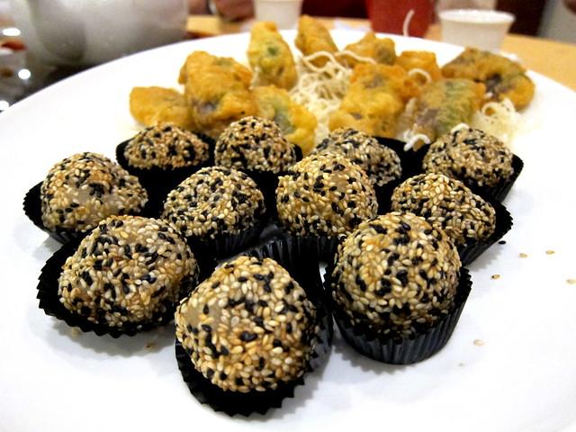 Deep Fried Sesame Balls filled with Peanut Butter