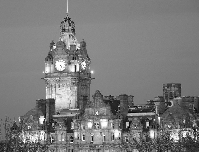 Balmoral Hotel clock tower