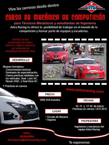 Curso Mecánicos 2012 Astra Racing