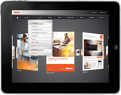 Blum Connect is a new free iPad app for home renovation ideas and guide.