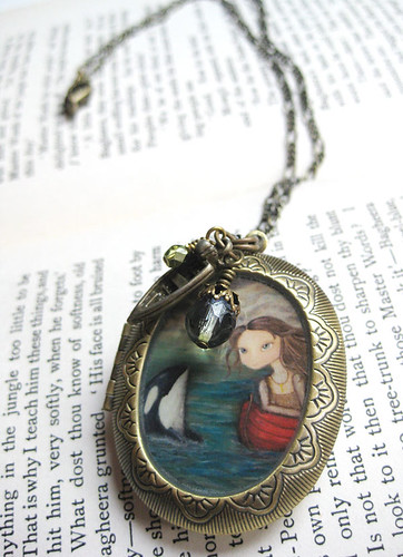 Antique Locket - Sarah and the Orca