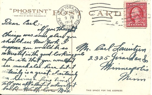 NYC Postcard (Manhattan Bridge - Reverse)