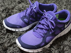cross training shoe, outdoor shoe, running shoe, sneakers, footwear, purple, violet, nike free, shoe, athletic shoe,
