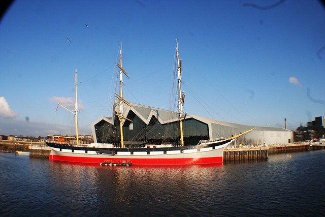 Tall Ship Glenlee at Riverside Museum, River Clyde, Scotland