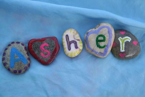 Mama-made Alphabet Stones