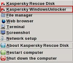 Kaspersky WindowUnlocker _ menu