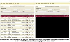 FOI decicions website to be deleted - msps secret plans