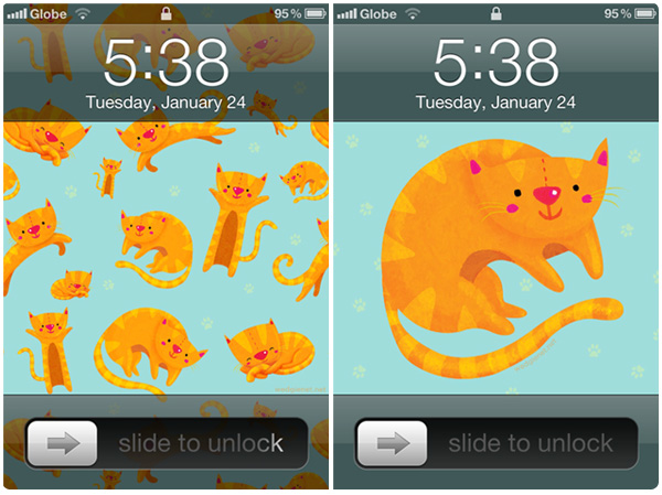 Cats iPhone wallpapers (and other designs)