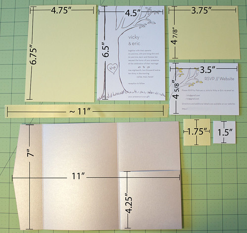 Vicky and things diy wedding invitations tutorial for Diy pocket wedding invitations tutorial