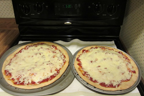 friday is homemade pizza night.