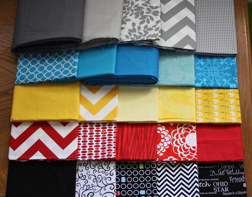 Fabric Selection, Pillow Talk Swap 7
