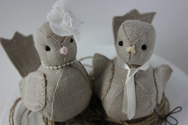 Woodland wedding love birds