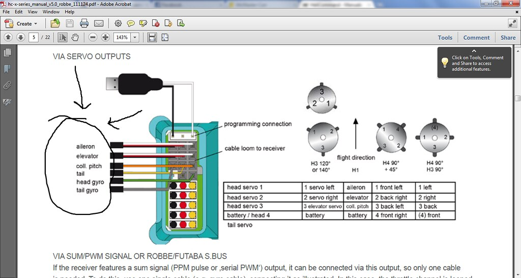 futaba receiver diagram helicopter › helicommand hc3-sx - page 1