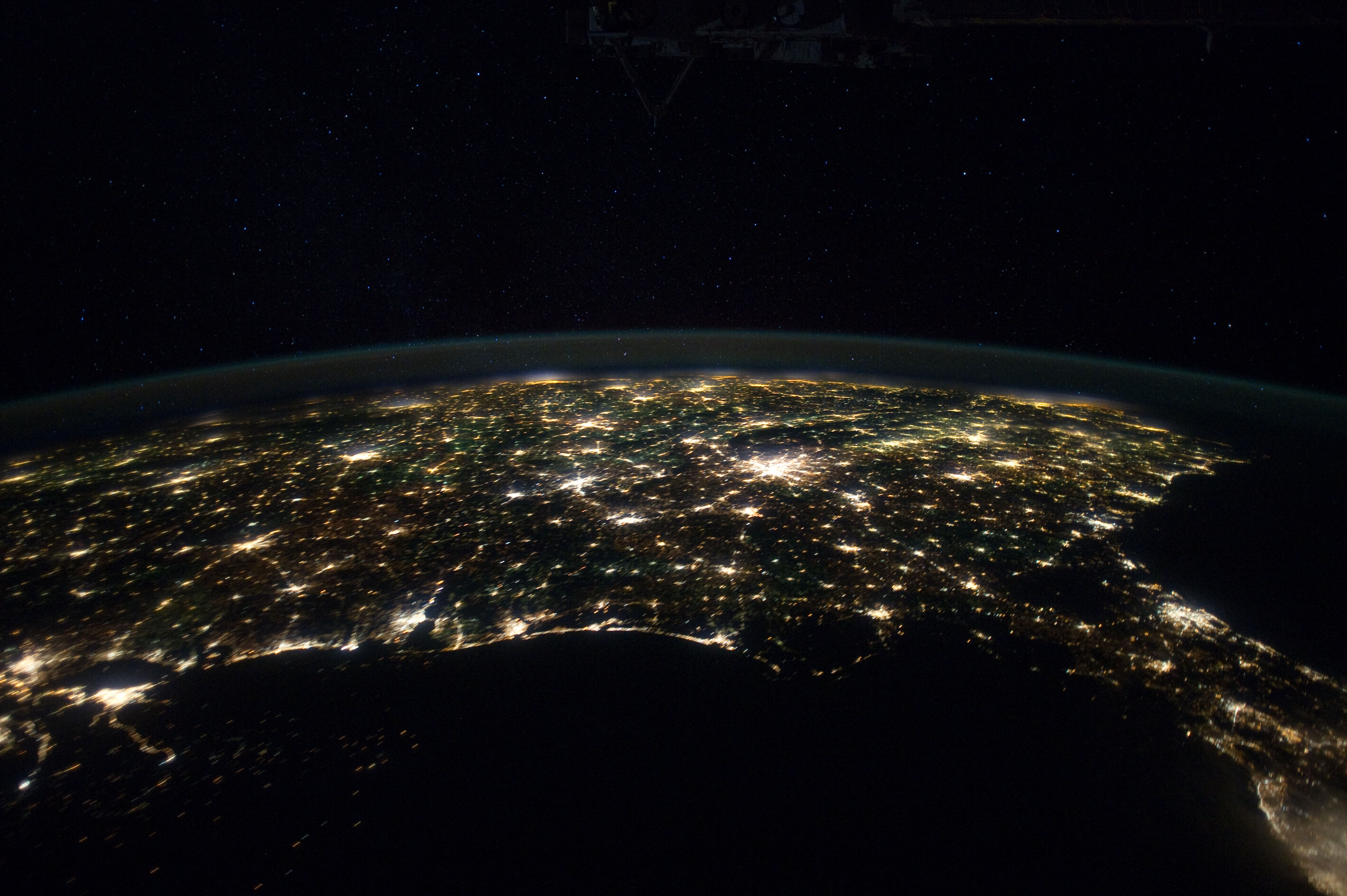 Eastern Two Thirds Of U S At Night Nasa International