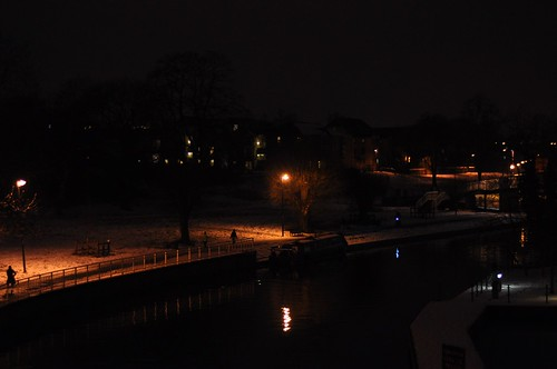 Towpath at night