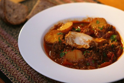 Four seasons of food: Moroccan ragout with poached eggs