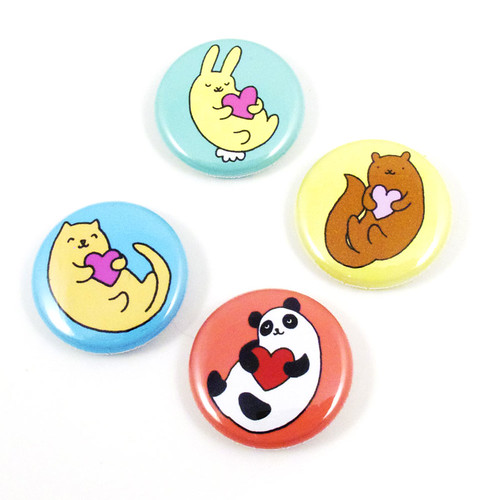 Heart-imals Button Set