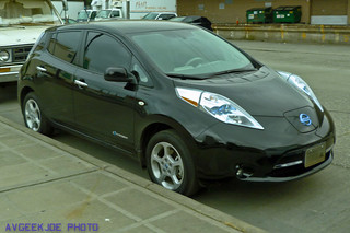 Front right of a Nissan Leaf...