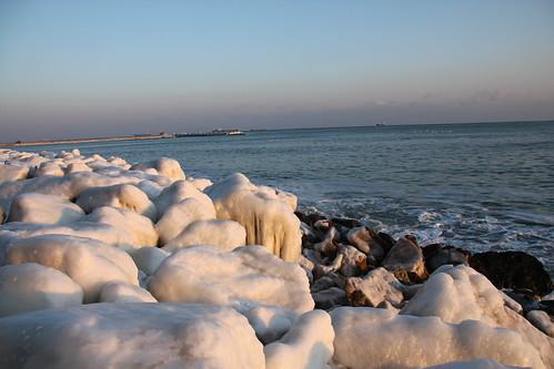 Beach during winter