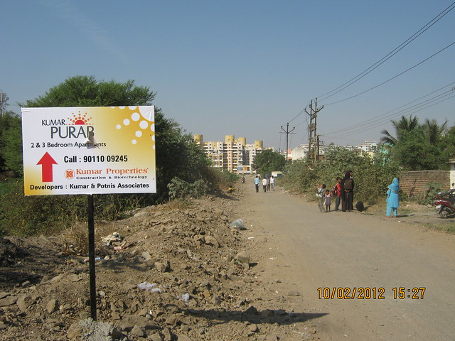 Way to Kumar Properties' Kumar Purab, 2 BHK & 3 BHK Flats, off Pune Solapur Road, behind Diamond Cars, Hadapsar, Pune 411 028