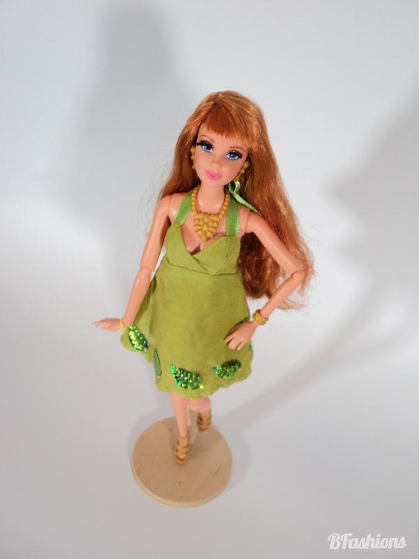 Letnia sukienka dla Barbie